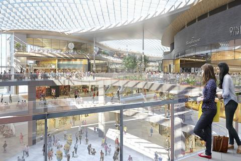 "The ""town square"" proposed as part of the redevelopment of Brent Cross Shopping Centre"